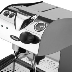 Piccino from side with filter holder